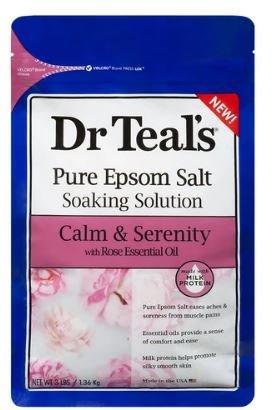 DR TEALS EPSOM SALTS ROSE OIL (CALM & SERENITY) 1.36KG