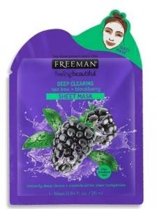 FREEMAN TEA TREE & BLACKBERRY SHEET MASK 25ML