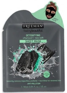 FREEMAN CHARCOAL & SEA SALT SHEET MASK 25ML