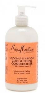 SHEA MOIST.COCONUT & HIBISCUS CURL& SHINE CONDITIONER 384ML
