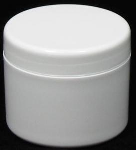 CP 100GM PVC JAR WHITE ROUND SQUAT(6601)