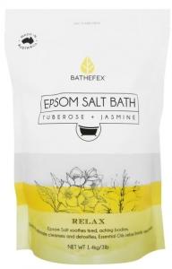 BATHEFEX EPSOM SALTS TUBEROSE+JASMINE 1.4KG