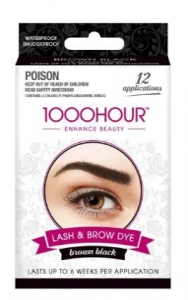 1000HR EYELASH & BROW  BROWN/BLACK