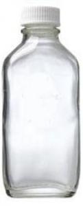 CP 100ML GLASS CLEAR FLAT+LID