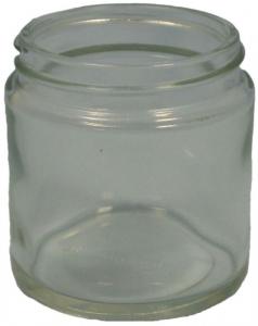 CP 120ml GLASS JAR CLEAR SQUAT(5840)