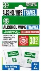 ALCOHOL WIPES 30PK+++