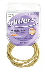 GLIDERS M/F P/TAIL HOLDERS BLONDE 4PC