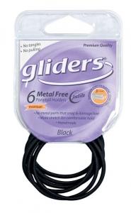 GLIDERS M/F PETITE P/T HOLDER  BLACK 6PC