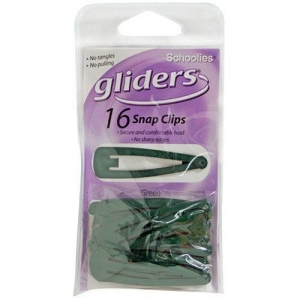 GLIDERS SNAP CLIPS 16PCE GREEN+++