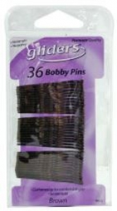 GLIDERS BOBBY PINS 36PC BROWN