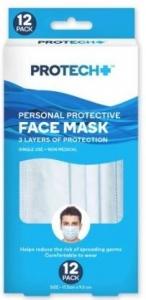 PROTECH FACE MASKS 12PCE PK