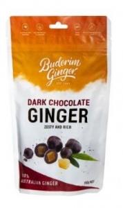 BUDERIM DARK CHOCOLATE GINGER 150GM
