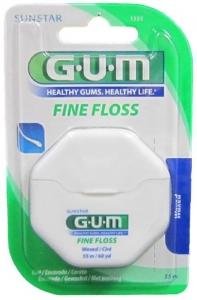GUM FINE FLOSS WAXED 55M