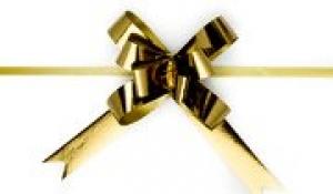 RIBBON PULL BOWS METALLIC GOLD PK25