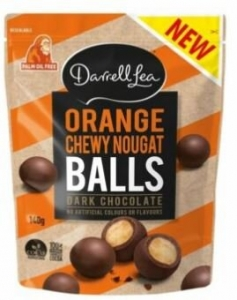 DL ORANGE NOUGAT BALLS 140G