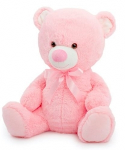 TOBY RELAY TEDDY BABY PINK 20CM