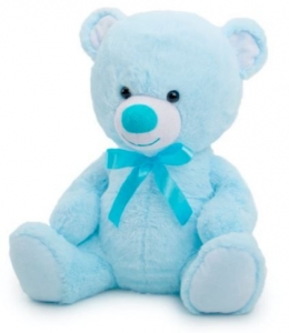 TOBY RELAY TEDDY BEAR BABY BLUE 30CM
