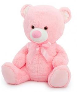 TOBY RELAY TEDDY BEAR BABY PINK 40CM