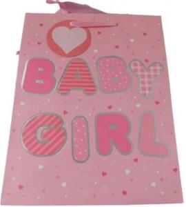 GIFTBAGS MED BABY GIRL PK 4 22X17 CM