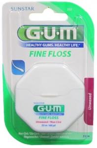 GUM FINE FLOSS - UNWAXED 50M###