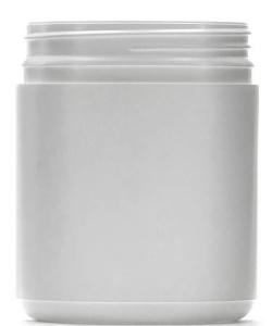 500ML WHITE  JAR T/TELL (8353)