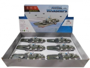 AIRCRAFT CARRIER PULL BACK LIGHT N SOUNDS 21CM