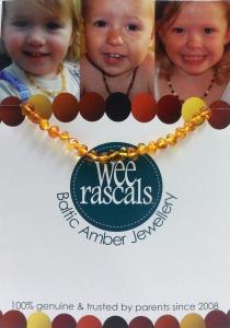 AMBER BRACELET/ANKLET INFANT 15CM HONEY