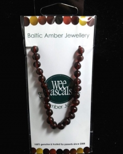 AMBER NECKLACE INFANT 33CM CHERRY