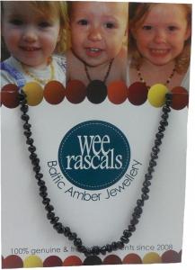 AMBER NECKLACE CHILD 38CM BLACK