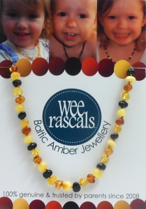 AMBER NECKLACE ADULT 46CM MULTI
