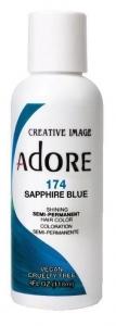 ADORE #174  SEMI PERM.HAIR COLOR SAPPHIRE BLUE