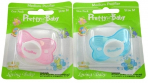 PB BUTTERFLY PACIFIER 3-6MTH SILICONE