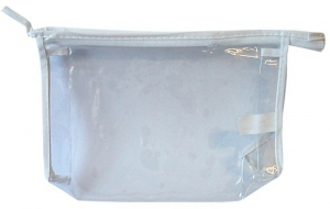 CLEAR PVC  PLASTIC ZIP BAG 20X12X4CM