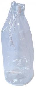 CLEAR PVC  PLASTIC DRAWSTRING BAG 26X10C
