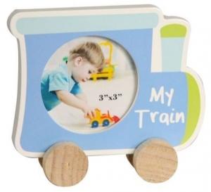 PHOTO  FRAME BABY BLUE TRAIN 6CMX6CM