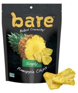 BARE FRUIT CHIPS PINEAPPLE 21G BOX OF 6