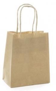 BROWN KRAFT  BAGS EX SML 140X75X165 PK4+++