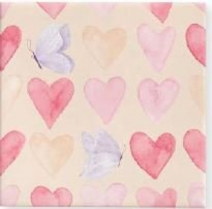 GIFT WRAP PAPER 40M X60CM HEARTS & BUTTERFLY MATTE
