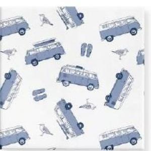 GIFT WRAP PAPER 40M X60CM MATTE KOMBI VANS BLUE