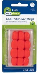 KIDS SOFT SILICONE EAR PLUGS 6PR