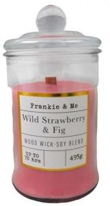 CANDLE 495G WW GLASS JAR WILD STRAWBERRY FIG