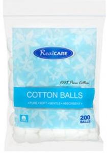 RC COTTON BALLS 200 RE SEAL ZIP BAG