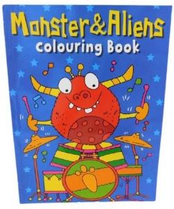 COLOURING BOOK MONSTER & ALIENS 56PG