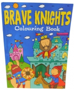 COLOURING BOOK BRAVE KNIGHTS 56PG