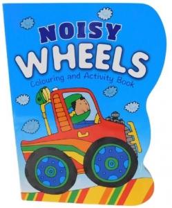 COLOURING & ACTIVITY BOOK NOISY WHEELS 40PG