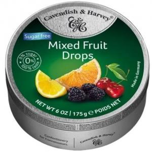 C&H TINS  MIXED FRUIT S/FREE 175GM