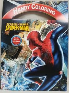 SPIDERMAN STICKER BOOK WITH HANDLE