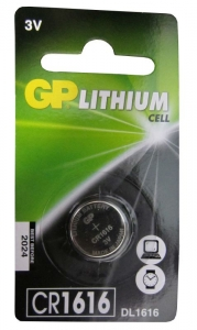 GP BATTERY LITHIUM COIN 3.0V CRD 1