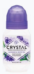 CRYSTAL DEOD ROLL-ON LAVENDER & WHITE TEA 66ML