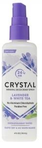CRYSTAL DEOD. SPRAY LAVENDER & WHITE TEA 118ML